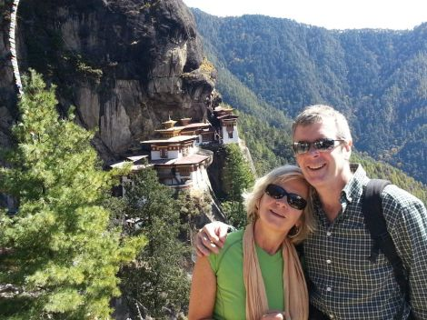at the Tiger's Lair in Bhutan