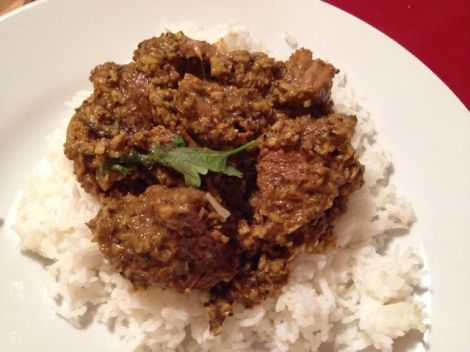 The rendang should be 'dry'