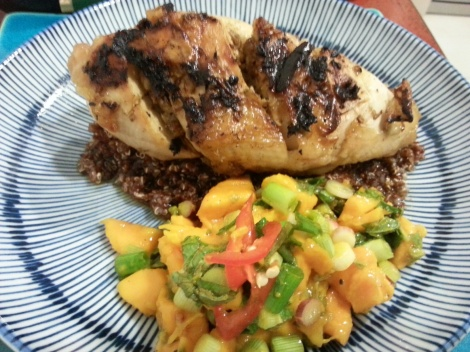 grilled chicken mangosalsa
