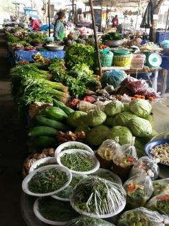 Local market greens