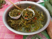 River weed, local delicacy