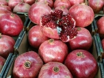 Pomegranates at the Carmel market Tel Aviv