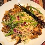 Noodle salad with mushroom laab